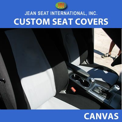 Any Seat Style 2 Color Canvas Seat Covers
